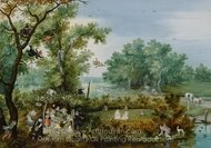 Merry Company in an Arbor painting reproduction, Adriaen Van De Venne
