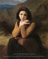 Mignon painting reproduction, William A. Bouguereau