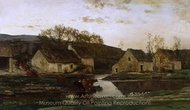 Mill painting reproduction, Charles Daubigny