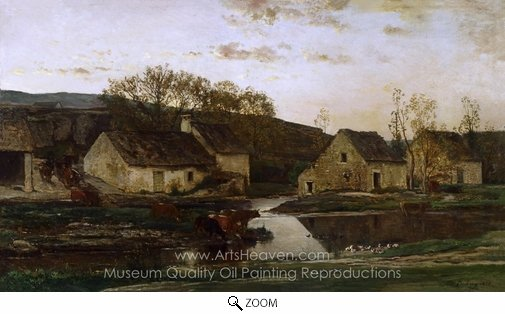 Charles Daubigny, Mill oil painting reproduction