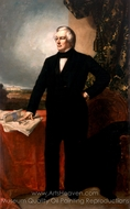 Millard Fillmore painting reproduction, George P. A. Healy