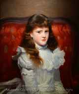 Miss Cara Burch painting reproduction, John Singer Sargent