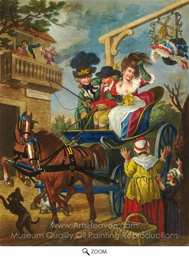 John Collet, Miss Follys Head Exalted oil painting reproduction