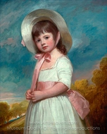 Miss Juliana Willoughby painting reproduction, George Romney