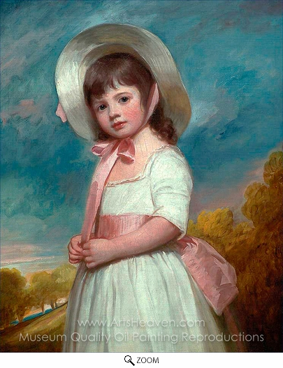 George Romney, Miss Juliana Willoughby oil painting reproduction