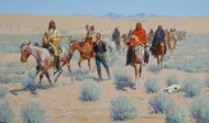 Missing painting reproduction, Frederic Remington