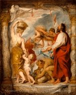 Modello for the Israelites Gathering Manna in the Desert painting reproduction, Peter Paul Rubens
