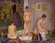 Models painting reproduction, Georges Seurat