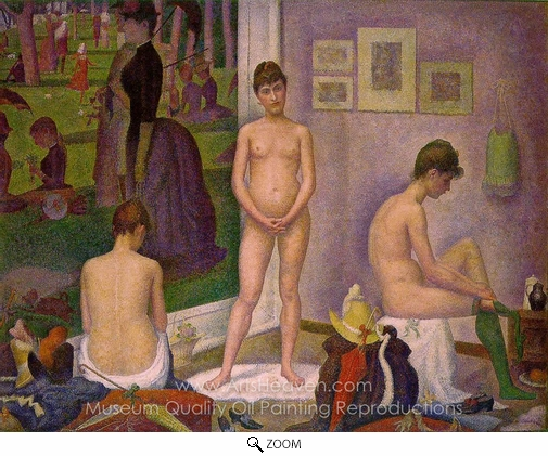 Georges Seurat, Models oil painting reproduction