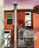 Modern Conveniences painting reproduction, Charles Demuth