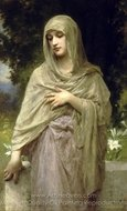 Modesty (Modestie) painting reproduction, William A. Bouguereau