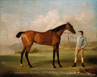 Molly Long-legs with Her Jockey painting reproduction, George Stubbs
