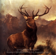 Monarch of the Glen painting reproduction, Sir Edwin Landseer