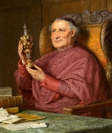 Monk with a Columbine Cup painting reproduction, Eduard Von Grutzner