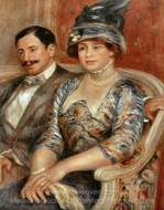 Monsieur et Madame Bernheim de Villers painting reproduction, Pierre-Auguste Renoir