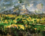Mont Sainte-Victoire painting reproduction, Paul C�zanne