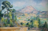 Mont Sainte-Victoire painting reproduction, Paul Cézanne