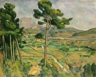 Mont Sainte-Victoire and the Viaduct of the Arc River Valley painting reproduction, Paul C�zanne