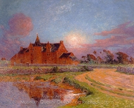 Moonlight over Kervaudu painting reproduction, Ferdinand Du Puigaudeau
