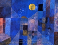 Moonshine painting reproduction, Paul Klee