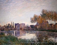 Moret at Sunset painting reproduction, Alfred Sisley