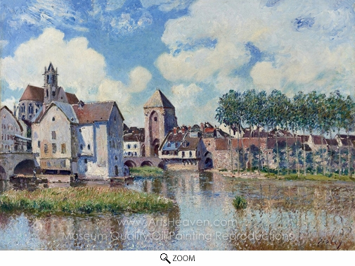 Alfred Sisley, Moret-sur-Loing oil painting reproduction