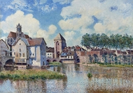 Moret-sur-Loing painting reproduction, Alfred Sisley