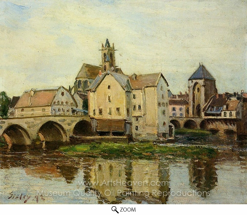 Alfred Sisley, Moret-sur-Loing, Morning oil painting reproduction