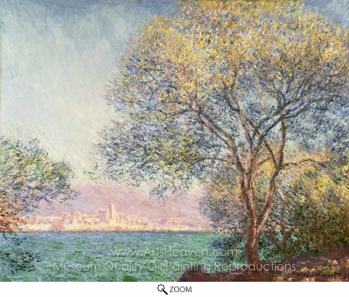 Claude Monet, Morning at Antibes oil painting reproduction