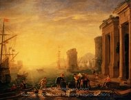 Morning in the Harbour painting reproduction, Claude Lorraine