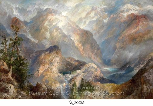 Thomas Moran, Morning in the Sierras, Nevada oil painting reproduction
