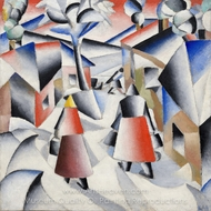 Morning in the Village after Snowstorm painting reproduction, Kasimir Malevich