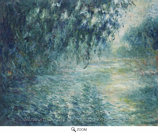 Claude Monet, Morning on the Seine oil painting reproduction