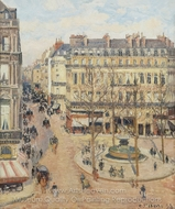 Morning Sun in the rue Saint-Honore painting reproduction, Camille Pissarro