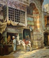 Moroccan Market Scene painting reproduction, Louis Comfort Tiffany