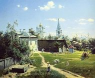 Moscow Courtyard painting reproduction, Vasiliy Polenov