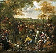Moses Striking the Rock painting reproduction, Jan Steen