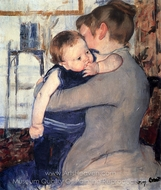 Mother and Child painting reproduction, Mary Cassatt