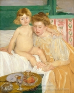 Mother and Child (Baby Getting Up from His Nap) painting reproduction, Mary Cassatt