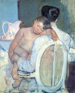 Mother Holding a Child in Her Arms painting reproduction, Mary Cassatt