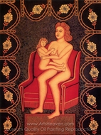 Motherhood painting reproduction, Morris Hirshfield