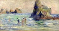 Moulin Huet Bay, Guernsey painting reproduction, Pierre-Auguste Renoir