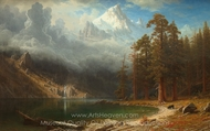 Mount Corcoran painting reproduction, Albert Bierstadt