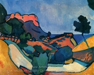 Mountain Road painting reproduction, Andre Derain