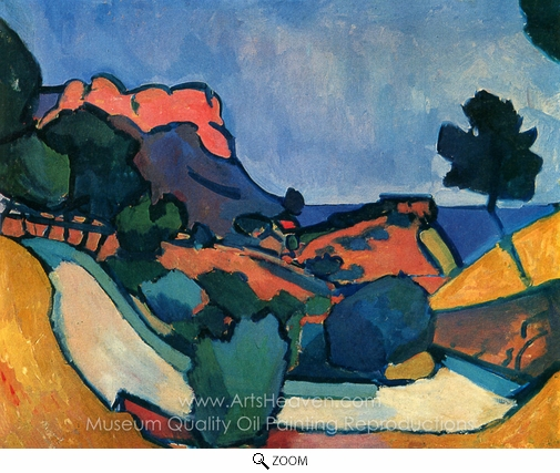 Andre Derain, Mountain Road oil painting reproduction