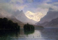 Mountain Scene painting reproduction, Albert Bierstadt