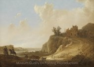 Mountainous Landscape with the Ruins of a Castle painting reproduction, Aelbert Cuyp