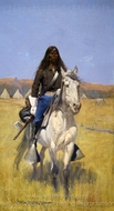 Mounted Indian Scout painting reproduction, Frederic Remington