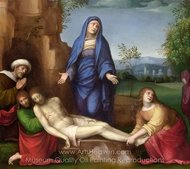 Mourning over the Dead Christ painting reproduction, Francesco Francia