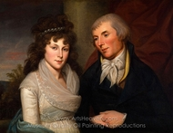 Mr. and Mrs. Alexander Robinson painting reproduction, Charles Willson Peale